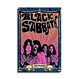 Black Sabbath Poster auf Leinwand, Wandkunst, Poster für