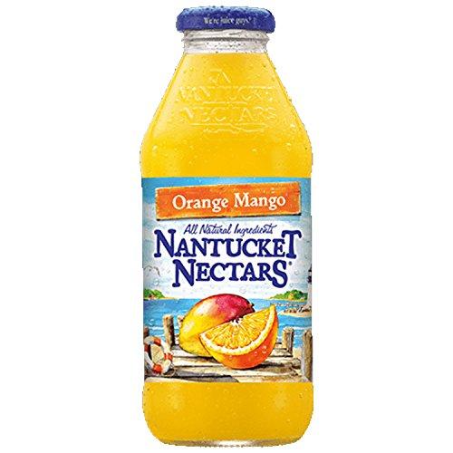 Nantucket Nectars Orange Mango Juice Drink, 16 fl oz (12 Glass Bottles)