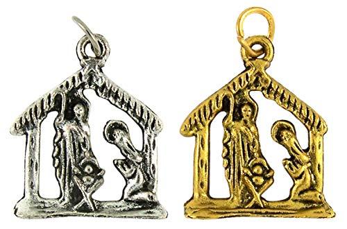 AutoM - Abalorios Decorativos (2 Unidades, Tono Plateado y Dorado)