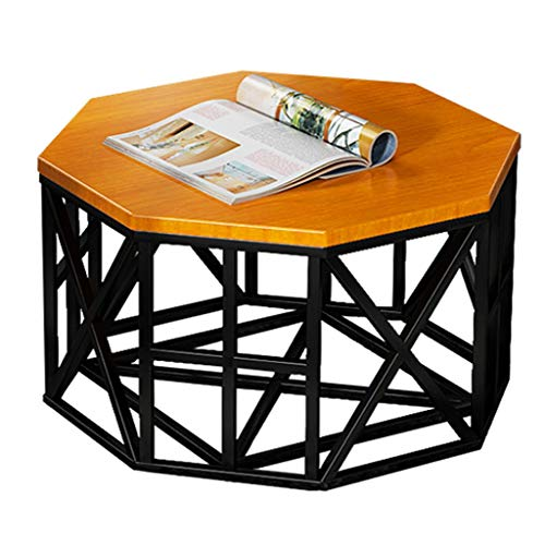 Coffee table Nordic Black Wrought Iron Coffee Table Solid Wood Desktop Side Table End Table for Bedroom Living Room Sofa Tea Table Side table