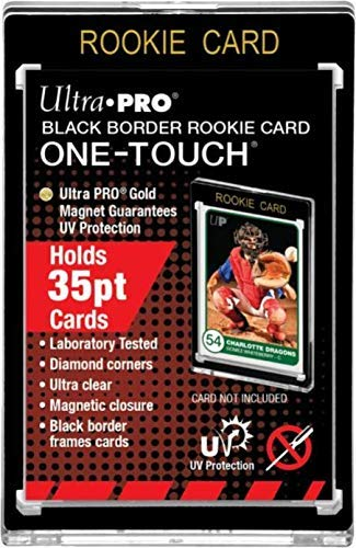 One Touch Ultra Pro Rookie Card Black Border Card Holder 35pt