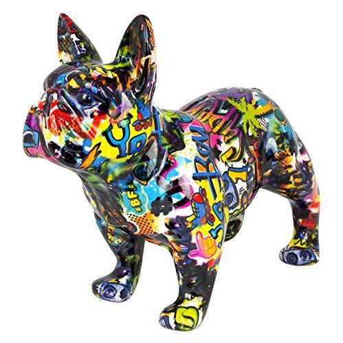 Pomme Pidou Spardose XL Bodhi's Big Jack | Originale e Keramische French Bulldog Hund Grafitti Grosse Spardose | Brooklyn Gratis Geschenkbox