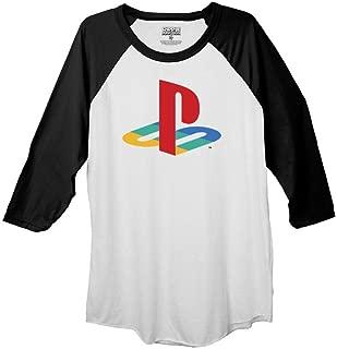 Ripple Junction Playstation Sony Playstation Logo Adult Raglan Shirt
