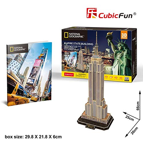 Cubic Fun - Puzzle 3D City Traveller del Empire State en Nueva York, National Geographic (CPA Toy Group DS0977)