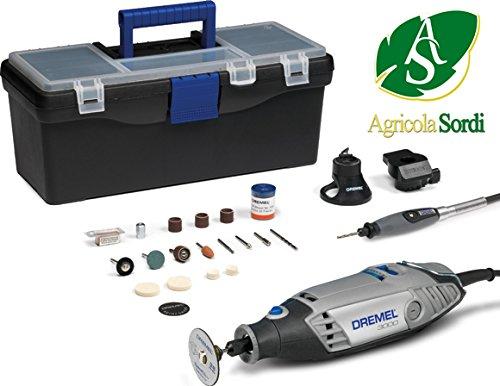 DREMEL Multiutensile 3000 Silver Kit, 55 Accessori, Valigetta