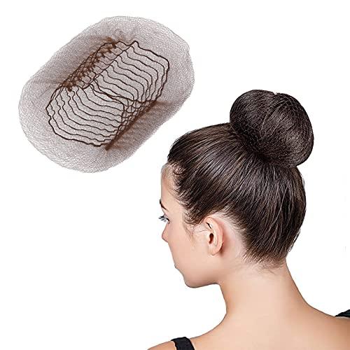 200 redes de pelo invisible con redecilla pelo elasticidad nailon redecilla para el cabello con borde elástico Adecuado para la fijación del cabello de bailarines, gimnasia, jinetes, chefs, enfermeras