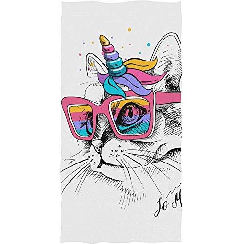 EXking Leuke Kat in un-icorn Masker Handdoeken voor Badkamer Decoratieve Gast Handdoeken Multipurpose voor Gym en Hotel