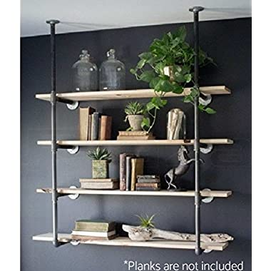 Industrial Retro Wall Mount Iron Pipe Shelf Bracket Diy Storage Shelving Bookshelf (Custom Made)