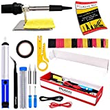 Soldering Iron Kit Electronics, Soldering Iron 60W Adjustable Temperature, Solder Wire, Wire...