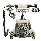 Vbestlife Teléfono Antiguo, teléfono Fijo Europeo de Estilo Retro MS-2200D con...