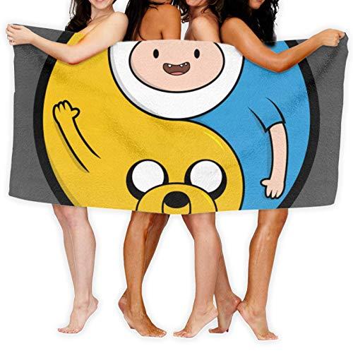 Anganganiel Toallas de baño Adventure Time Jake & Finn Yang Toallas Suaves súper absorbentes Toallas de Secado rápido Moda Deportes Viajes Playa Toalla de Piscina 80cm × 130cm