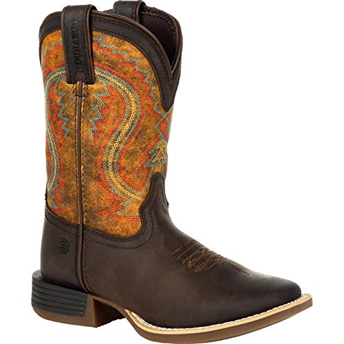 Durango Lil Rebel Pro Big Kid's Briar Green Western Boot Size 4(M)