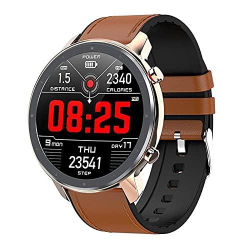 ZGZYL L11 Reloj Inteligente De Los Hombres con Presión Arterial/Oxígeno De Sangre/PPG + ECG/Monitor De Ritmo Cardíaco Calorie Fitness Tracker Pedómetro IP68 Reloj Deportivo Impermeable,E