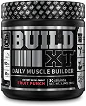 Build-XT Muscle Building Mass Builder Powder - Daily Pre Workout Muscle Builder Supplement for Muscle Growth, Strength, Recovery | Weight Gainer w/Proven Peak02 & elevATP - Fruit Punch, 30sv