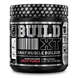 Build-XT Muscle Building Mass Builder Powder - Daily Pre Workout Muscle Builder Supplement for Muscle Growth, Strength, Recovery | Weight Gainer w/Proven Peak02 & elevATP - Fruit Punch, 3