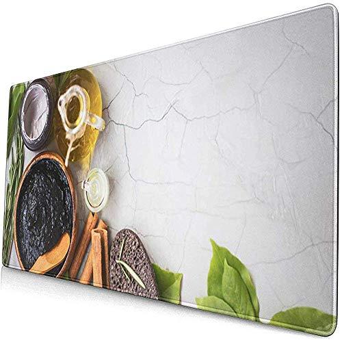 Gaming Extended Mouse Pads mit Rutschfester Gummibasis Organische Hautpflegeprodukte Schlammmaske Ton Olivenöl 30X80 cm