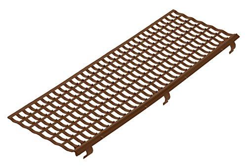 INEFA Laubfangstreifen NW 100/125/150, 100 cm, braun, Kunststoff, Regenrinne, Dachrinne