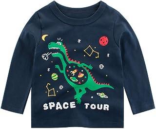 K-Youth para 1 a 7 años Ropa Bebe Niño Invierno Otoño Camiseta Manga Larga Bebe Blusa de Niños Estampado de Animal Ropa pa...