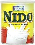 Nestlé Nido Leche en Polvo Entera - Crema Instantánea para Bebidas de Café y Té - Lata 400 g - Paquete de 6