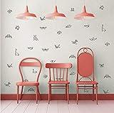 Origami Diario Mariposa Animal Tatuajes de Pared de Vinilo Etiqueta de La Pared Para Habitaciones de Niños Vivero Origami Diario Extraíble Arte de La Pared DecoraciónPVC Liubaorn