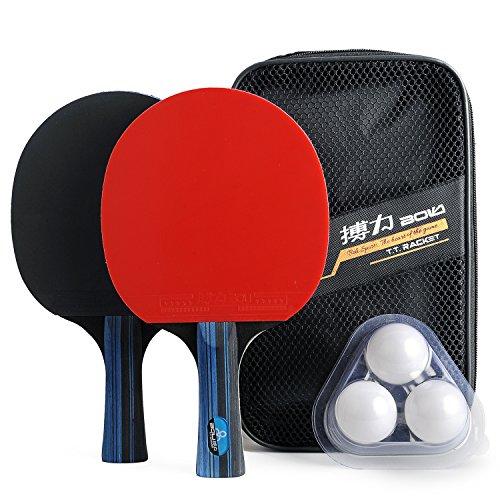 Juego de paletas y pelotas de tenis de mesa