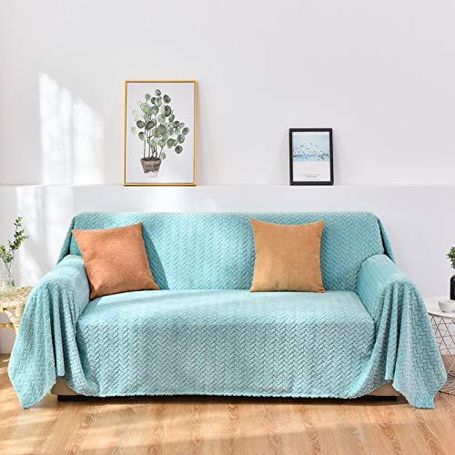 NOBCE Funda de sofá en Forma de L para Sala de Estar, Muebles elásticos, Funda para sofá, Funda para sofá de Esquina, elástico, Azul Claro 200X360CM