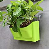 Macetas para Flores Jardineras colgantes verticales - Macetas de múltiples capas montadas en la pared Para plantas suculentas Flores Interior al aire libre Ventana Patio de la pared Jardín Decoración