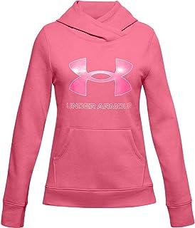 Under Armour Girls' Rival Fleece Logo Hoodie