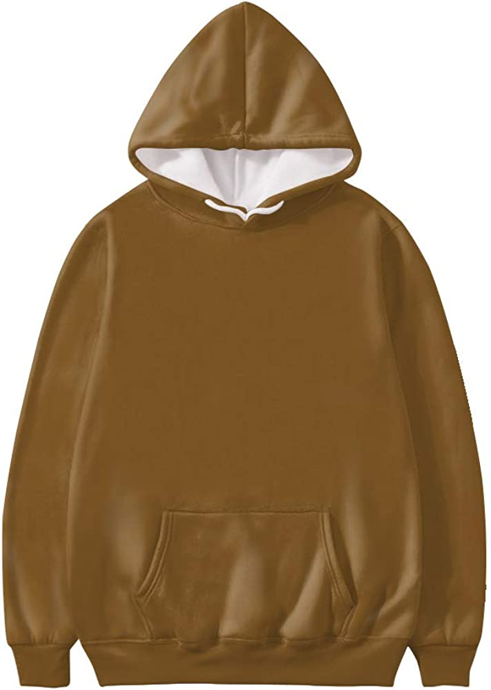 Xhuibop Womens Fashion Hoodies and Sweatshirts with Drawstring Pullover Jumper Long Sleve Top