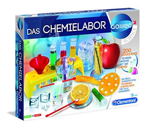 Clementoni 69272 Galileo Science – Das Chemielabor, Experimentierkasten für Zuhause, spannendes Spielzeug für Kinder ab 8 Jahren, abwechslungsreiche Versuche