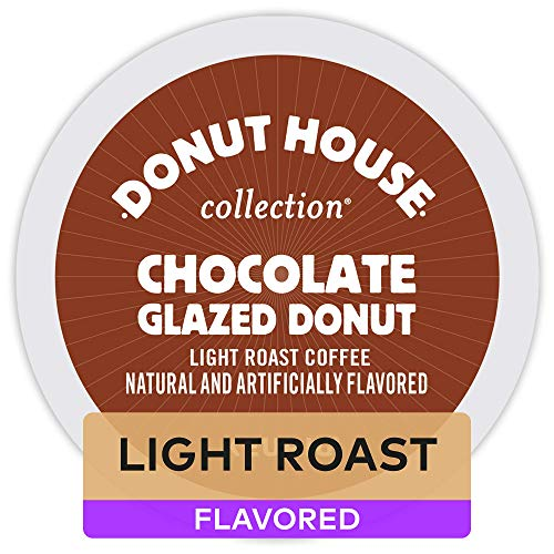 Donut House Collection Chocolate Glazed Donut, Keurig Single-Serve K-Cup Pods, Flavored Coffee, 72 Count