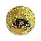 OneHorse 3枚セット ビットコイン Bitcoin レプリカ 仮想通貨 ゴールド 風水 金運 幸運 強運 プレゼント お守り (BTC, 3)