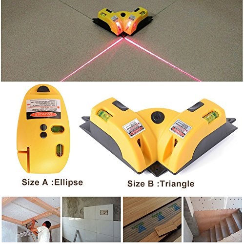Laser-Linie Projektion Square Level Rechtwinklig 90 Grad (B)