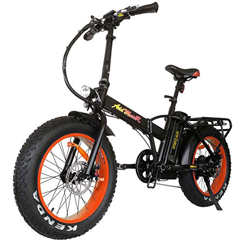 Addmotor Motan Folding Adult Electric Bikes 20 Inch Fat Tire Bicycle 48V 500W Motor Pedal Assit...