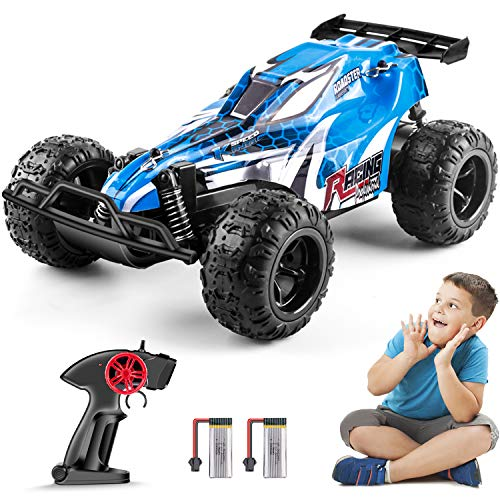 Remote Control Car for Boy Girl, 2.4GHz RC Cars for Kid with 2 Batteries, 1:22 Scale Racing Car Vehicle Toy Gift for Kids 4-12 Years Old Blue