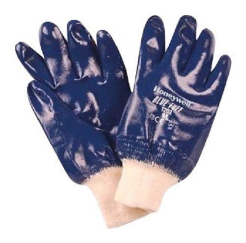 Honeywell T102/9L C & S Blau Safe unterstützt Nitril Strick Handgelenk vollvergütetem Handschuh, groß (12Stück)