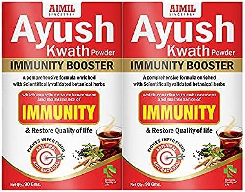 AIMIL Ayush Kwath Powder Immunity Booster 90 x 2 180 gm Pack of 2