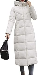EnergyWD Womens Solid Hood Plus-Size Casual Thickened Cotton Padded Jacket