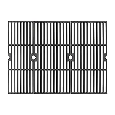 ZLjoint 18 Inches Cooking Grates for Charbroil Performance 2 Burner 463625217, Performance 300 2-Burner Gas Grill, Cast Iron Grill Cooking Grids (3)
