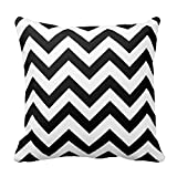 Black and White Chevron Pattern Pillow Decorative Throw Pillow Cover Cushion Case
