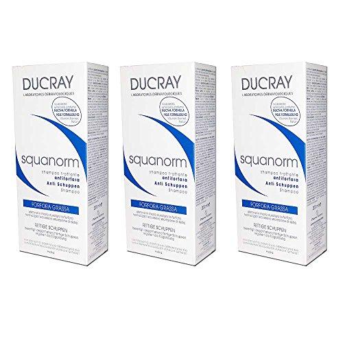 3x DUCRAY SQUANORM–Shampoo trattante Anti-Schuppen 200ml