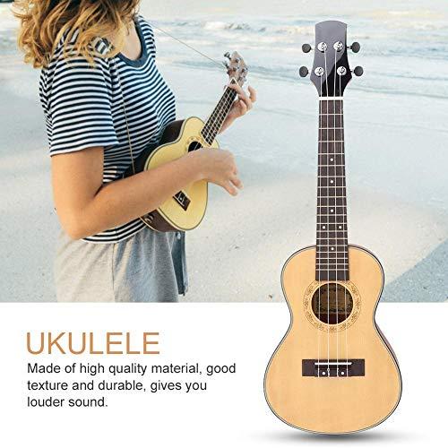 Ukulele Beginner 24 Inch Sparrenhout Concert Ukelele leren spelen 4 snaren Hawaii gitaar Muzikale Instrument Kit met Draagtas Pick Sand Hammer