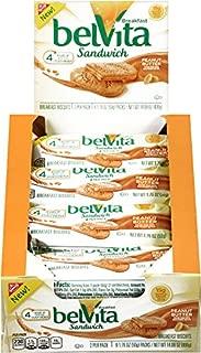 belVita Peanut Butter Sandwich Breakfast Biscuits, 8 Count per Box, 14.08 Oz, Pack of 8