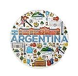 zamonji Argentina Edificios Históricos y Colección Cultural | 3D Imanes para Refrigerador Imán de Nevera de Resina | Recuerdos de Viaje