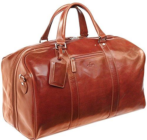 S Babila - Weekender-Reisetasche in Handgepäcksgröße - aus Leder