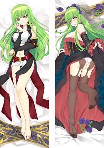 ZHTX Code Geass CC Double-Sided Print Pillow Covers Anime Cushion Cover Case Zippered Square Pillowcase 2Way Tricot 100 x 34cm(39 37in x 13 38in)