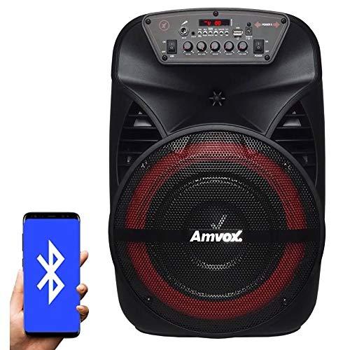 Caixa Amplificadora Amvox Aca-280, Bluetooth, Aux, Usb, Fm, 280w Rms - Preto