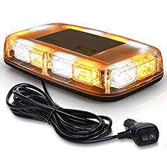 SUPER BRIGHT: 36 Hi-intensity LED chips with high visibility in daylight, midnight, raining or fog days. Improve the driver security and avoid accidents. EASY INSTALLATION: comes with strong magnets (Test go up to 72mph but not fall off) and 12-24V s...