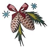 Sizzix Set de Troqueles Thinlits 8 pzas 664733 Adornos festivos, Colorize de Tim Holtz, Talla única