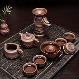 Kungfu Porcelain Lid Teas Teacups Sets Kung Fu Tea Purple Retro Ceramic Teapot Tea Set Semiautomatic Creative Gift Company LEBAO (Color : Xiangyun Pot)